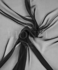 einfarbig schwarz Chiffon