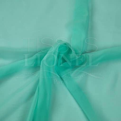 mousseline uni vert d'eau