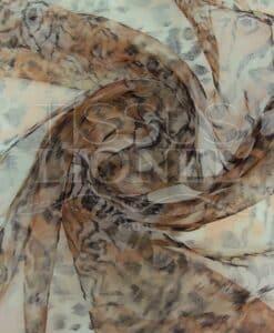 organza gedruckt tiger