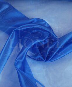 organza uni bleu océano