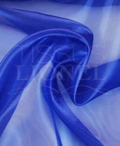 organza uni bleu royal