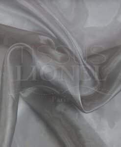 organza uni gris clair