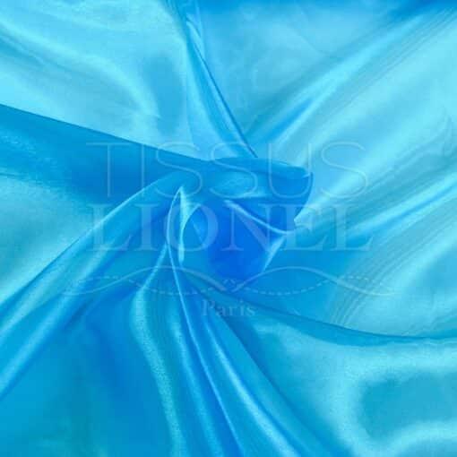 organza uni turquoise