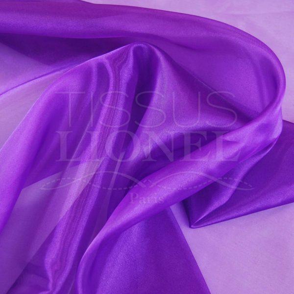 organza uni violet foncé