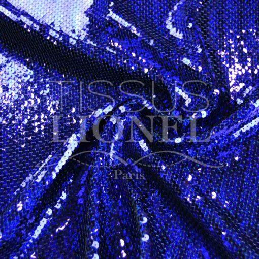 pailleté hologramme américain bleu