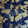 pailleté tie and dye bleu et or