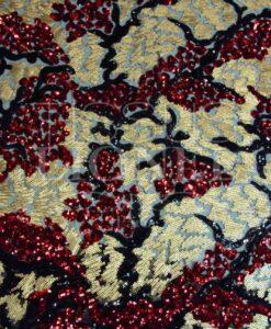 pailleté tie and dye rouge et or