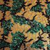 pailleté tie and dye vert et or