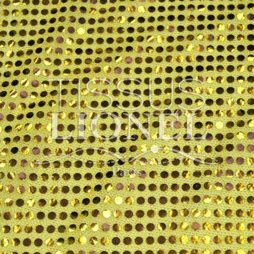 pailleté uni fond jaune pailleté or