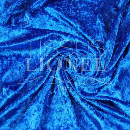 panne de velour bleu royal