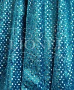 terciopelo fracaso holograma fondo azul turquesa con lentejuelas de plata brillante holograma