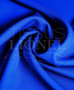 polyester toille uni bleu royal
