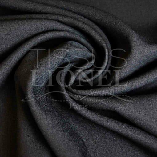 polyester toille uni noir