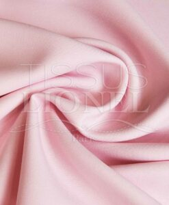 polyester toille uni rose pale