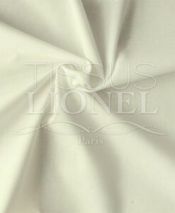 Popeline de coton bio écru