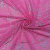 fluorescent pink fishnet Lycra glitter hologram silver arabesque