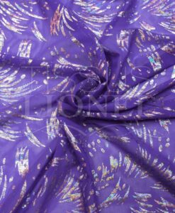 Fishnet Lycra purple glittery silver hologram psycho