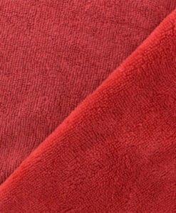 Tissu éponge bambou hydrophile rouge