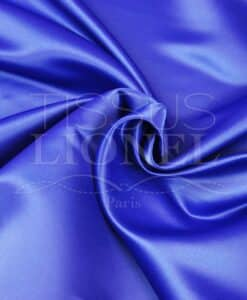satin duchesse bleu royal