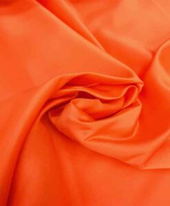 Bright orange duchess satin