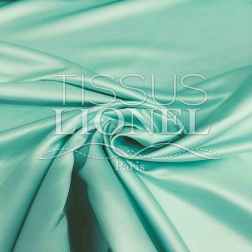 Satin duchesse vert pâle