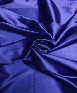 Satin Lycra royal blue
