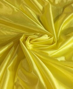Satin stitch yellow charmeuse
