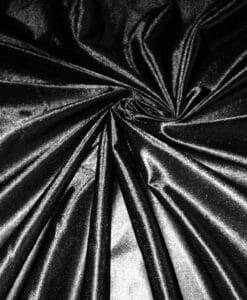 Raso nero charmeuse di maglia