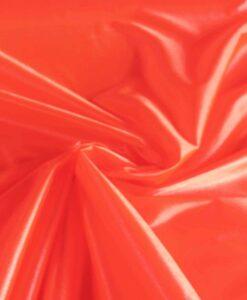 Satin maille charmeuse orange fluo