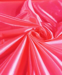 Satin maille charmeuse rose fluo