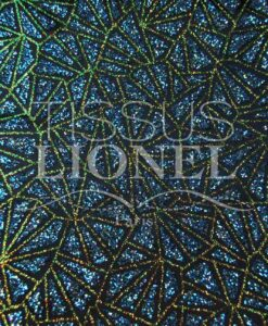 satin sequined glittery turquoise iridescent navy blue background and gold