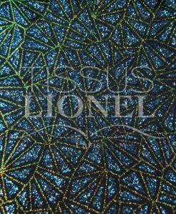 Satin Pailletten glitzernde türkis schillernde marineblauen Hintergrund und Gold
