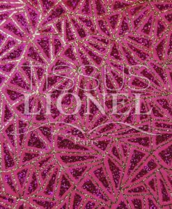 Satin background glittery fuchsia sequined fuchsia and gold