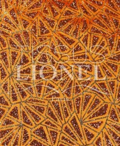 satin sequined orange background sequined orange and gold