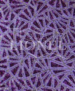 satin pailleté fond violet pailleté violet et or