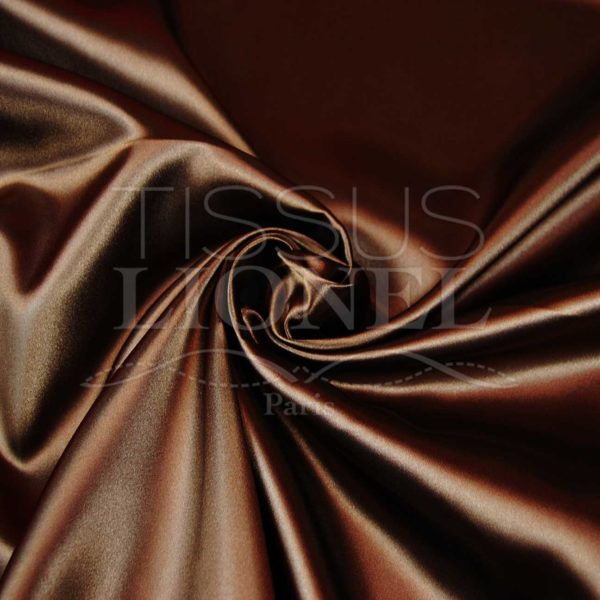satin uni marron