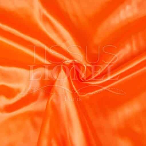 satin uni orange fluo