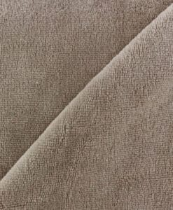 Tissu éponge bambou hydrophile taupe