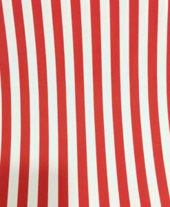 Tissu Burlington blanc rayure rouge