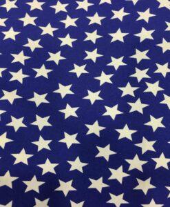 Ткань Burlington синий белый фон звезды
