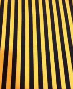 Ткань Burlington желтая черная полоса