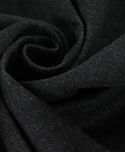 Черная ткань из шамбре
