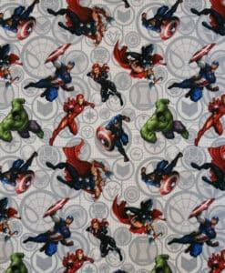 tissu coton avengers action