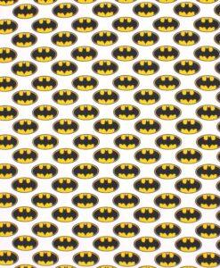 Stoff-Baumwolle-Batman-Weiß2