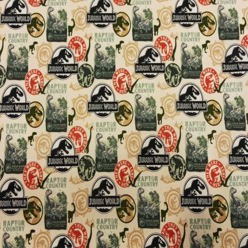 Tissu coton bio Jurassic World