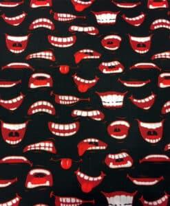 Tissu coton bouche