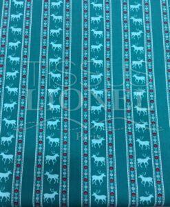 tessuto di cotone anatra motivo stampato cervo