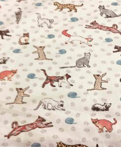 Tissu coton cats toy