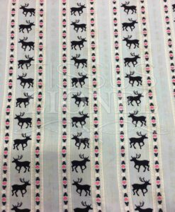 cielo cotone stampato tessuto motivo cervo
