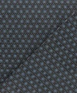 Tissu coton cube géométrique noir et bleu
